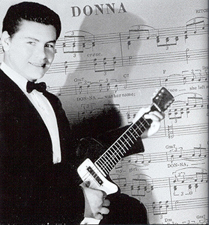"Music sheet with photo of Ritchie, ""Donna"""
